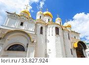 Купить «Annunciation Cathedral of the Moscow Kremlin», фото № 33827924, снято 9 июля 2019 г. (c) FotograFF / Фотобанк Лори
