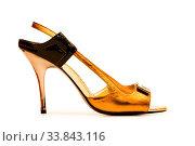 Купить «Woman shoes isolated on the white background», фото № 33843116, снято 3 июля 2020 г. (c) easy Fotostock / Фотобанк Лори