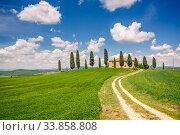 Tuscany spring landscape. Стоковое фото, фотограф Sergey Borisov / Фотобанк Лори