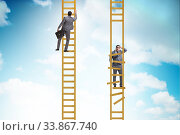 Купить «Career competition in business environment», фото № 33867740, снято 29 мая 2020 г. (c) Elnur / Фотобанк Лори
