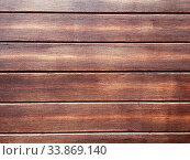 Купить «Brown wooden texture background, dark oak of weathered distressed washed wood with faded varnish paint showing woodgrain texture. wash hardwood planks pattern table top view», фото № 33869140, снято 12 июля 2020 г. (c) easy Fotostock / Фотобанк Лори