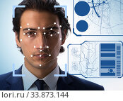 Купить «Concept of face recognition software and hardware», фото № 33873144, снято 4 июня 2020 г. (c) Elnur / Фотобанк Лори
