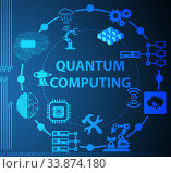 Купить «Quantum computing as modern technology concept», фото № 33874180, снято 4 июня 2020 г. (c) Elnur / Фотобанк Лори