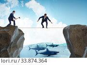Купить «Concept of unethical business competition», фото № 33874364, снято 29 мая 2020 г. (c) Elnur / Фотобанк Лори