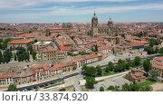 Salamanca Cathedral and historical center of city, Spain (2019 год). Стоковое видео, видеограф Яков Филимонов / Фотобанк Лори