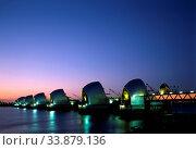 Thames Barrier, Woolwich, Newham, London, England. Стоковое фото, фотограф Alex Bartel / age Fotostock / Фотобанк Лори