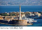Купить «Italy, Sicily Island, Mesina City, Lighthouse, Mesina Strait», фото № 33882720, снято 27 октября 2019 г. (c) age Fotostock / Фотобанк Лори