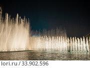 Купить «Dubai Dancing Fountain the wonderful evening show», фото № 33902596, снято 21 февраля 2020 г. (c) Дмитрий Травников / Фотобанк Лори