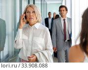 Купить «Portrait of adult business woman», фото № 33908088, снято 6 июля 2020 г. (c) Яков Филимонов / Фотобанк Лори