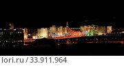 Купить «Night view of the new boulevard. Ashkhabad. Turkmenistan.», фото № 33911964, снято 13 июля 2020 г. (c) age Fotostock / Фотобанк Лори