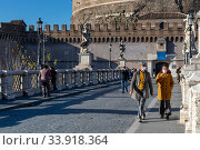 Купить «Rome, Italy - March 11, 2020: The city empties itself of tourists and people, the streets and main places of the capital remain deserted due to the coronavirus...», фото № 33918364, снято 11 марта 2020 г. (c) age Fotostock / Фотобанк Лори