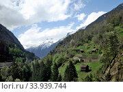 Купить «Aerial view of a swiss country village», фото № 33939744, снято 30 апреля 2012 г. (c) Александр Карпенко / Фотобанк Лори