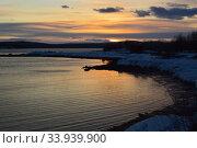 Закат на Белом море в мае. Стоковое фото, фотограф александр лупкин / Фотобанк Лори