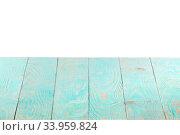 Купить «Empty wooden table backdrop on a white background.», фото № 33959824, снято 13 января 2020 г. (c) Ярослав Данильченко / Фотобанк Лори