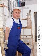 Puzzled builder. Стоковое фото, фотограф Яков Филимонов / Фотобанк Лори