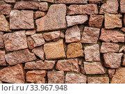 Купить «grunge stone wall background texture. brick wall background», фото № 33967948, снято 16 февраля 2018 г. (c) Nataliia Zhekova / Фотобанк Лори