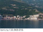The resort village of Becici and Rafailovici in the Montenegro (2019 год). Стоковое фото, фотограф Володина Ольга / Фотобанк Лори