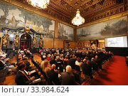 Hamburg, Germany, Senate reception on the occasion of the IDEE 150th German Derby in the ballroom of the Hamburg City Hall (2019 год). Редакционное фото, агентство Caro Photoagency / Фотобанк Лори