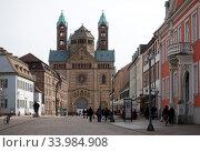 Speyer, Germany, Speyer Cathedral (2020 год). Редакционное фото, агентство Caro Photoagency / Фотобанк Лори