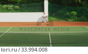 Купить «Tennis players playing a point», видеоролик № 33994008, снято 11 марта 2020 г. (c) Wavebreak Media / Фотобанк Лори