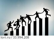 Купить «Concept of mentoship and support in business», фото № 33994208, снято 4 июля 2020 г. (c) Elnur / Фотобанк Лори