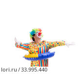 Funny clown isolated on white background. Стоковое фото, фотограф Elnur / Фотобанк Лори