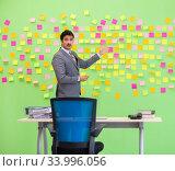 Купить «Businessman with many conflicting priorities», фото № 33996056, снято 24 мая 2018 г. (c) Elnur / Фотобанк Лори