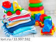 Купить «Baby clothes», фото № 33997592, снято 8 июля 2020 г. (c) age Fotostock / Фотобанк Лори