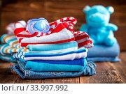 Купить «Baby clothes», фото № 33997992, снято 8 июля 2020 г. (c) age Fotostock / Фотобанк Лори