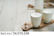 Gut health, fermented products concept. Стоковое фото, фотограф Ольга Сергеева / Фотобанк Лори