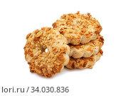 peanut cookies. Стоковое фото, фотограф Nataliia Zhekova / Фотобанк Лори