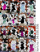 Купить «contemporary creative geometric abstract background», фото № 34030936, снято 13 июля 2020 г. (c) Nataliia Zhekova / Фотобанк Лори