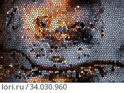 Купить «contemporary creative geometric abstract background texture. Colorful abstract pattern for textile», фото № 34030960, снято 7 мая 2018 г. (c) Nataliia Zhekova / Фотобанк Лори