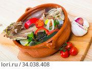 Купить «lamb shourpa with vegetables», фото № 34038408, снято 16 августа 2018 г. (c) Яков Филимонов / Фотобанк Лори