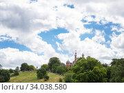 Royal Observatory in Greenwich park, London (2017 год). Стоковое фото, фотограф Nataliia Zhekova / Фотобанк Лори