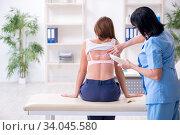 Купить «Young woman visiting old female doctor dermatologist», фото № 34045580, снято 16 октября 2019 г. (c) Elnur / Фотобанк Лори