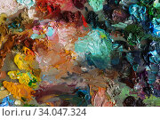 Купить «art palette background texture», фото № 34047324, снято 27 марта 2016 г. (c) Nataliia Zhekova / Фотобанк Лори