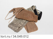 Loofah Washcloths with reinforcement with synthetic threads. Стоковое фото, фотограф ok_fotoday / Фотобанк Лори