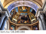 Ceiling painting in the gallery of maps of the Vatican Museum, Italy (2019 год). Редакционное фото, фотограф Евгений Ткачёв / Фотобанк Лори