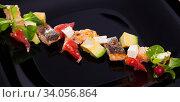 Salad with trout, vegetables, cheese. Стоковое фото, фотограф Яков Филимонов / Фотобанк Лори