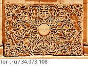 Architectural details of the 18th Century Ottoman architecture of the Ishak Pasha Palace (Turkish: Ä°shak PaŠŸa Sarayı) , AÄŸrı province of eastern Turkey. Стоковое фото, фотограф Funkystock / age Fotostock / Фотобанк Лори