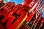 Купить «Праздничная инсталляция в виде даты 1945 установлена на Манежной площади в центре города Москвы во время парада Великой Победы во Второй Мировой войне 24 июня 2020 года, Россия», фото № 34080288, снято 24 июня 2020 г. (c) Николай Винокуров / Фотобанк Лори