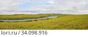 Купить «Тундра на Ямале», фото № 34098916, снято 27 июня 2020 г. (c) Сергей Дрозд / Фотобанк Лори