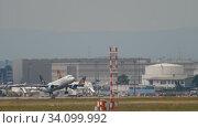 Купить «Austrian Airlines Airbus A320 departure», видеоролик № 34099992, снято 17 июля 2017 г. (c) Игорь Жоров / Фотобанк Лори