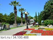 Пейзаж курорта Лазаревское, Сочи (2020 год). Стоковое фото, фотограф Игорь Архипов / Фотобанк Лори