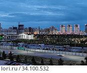 Купить «Астана, Казахстан - 2020.06.27: городской пейзаж», фото № 34100532, снято 25 июня 2020 г. (c) Максим Гулячик / Фотобанк Лори