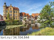 Die Werra in Eschwege, Hessen, Deutschland   Werra river in Eschwege, Hesse, Germany. Стоковое фото, фотограф Peter Schickert / age Fotostock / Фотобанк Лори