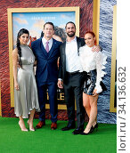 John Cena, Shay Shariatzadeh, Becky Lynch and Seth Rollins at the Los Angeles premiere of 'Dolittle' held at the Regency Village Theatre in Westwood, USA on January 11, 2020. Стоковое фото, фотограф Zoonar.com/Lumeimages / age Fotostock / Фотобанк Лори