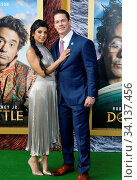 John Cena and Shay Shariatzadeh at the Los Angeles premiere of 'Dolittle' held at the Regency Village Theatre in Westwood, USA on January 11, 2020. Стоковое фото, фотограф Zoonar.com/Lumeimages / age Fotostock / Фотобанк Лори