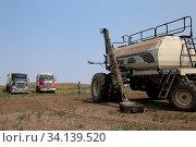 Купить «Seeding in Saskatchewan drought conditions Agriculture Canada», фото № 34139520, снято 14 июля 2020 г. (c) easy Fotostock / Фотобанк Лори